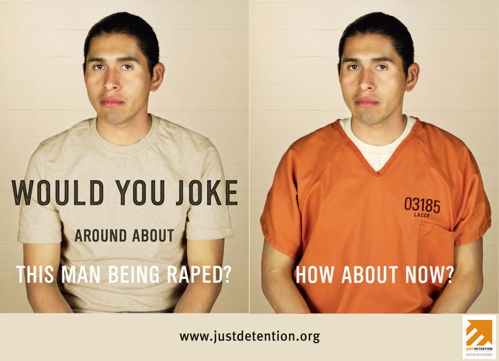 Would you job around about this man being raped? How about now?